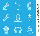 microphone icons set. set of 9...   Shutterstock .eps vector #634283618