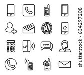 contact icons set. set of 16... | Shutterstock .eps vector #634297208