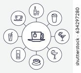 cup icons set. set of 9 cup...   Shutterstock .eps vector #634297280