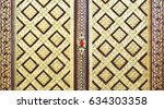 beautiful thai golden texture... | Shutterstock . vector #634303358