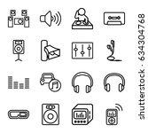 stereo icons set. set of 16... | Shutterstock .eps vector #634304768