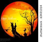 halloween background | Shutterstock .eps vector #63431314