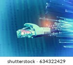 network cables closeup with... | Shutterstock . vector #634322429