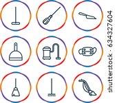 dust icons set. set of 9 dust... | Shutterstock .eps vector #634327604