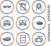 tank icons set. set of 9 tank...   Shutterstock .eps vector #634328180