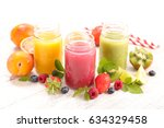 fruit juice smoothie | Shutterstock . vector #634329458