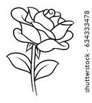 flower rose  black and white.... | Shutterstock .eps vector #634333478