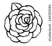 flower rose  black and white.... | Shutterstock .eps vector #634333484