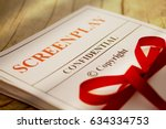 screenplay manuscript by author ... | Shutterstock . vector #634334753