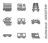 train icons set. set of 9 train ... | Shutterstock .eps vector #634337549