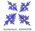 Blue Decorative Pretty Fractal
