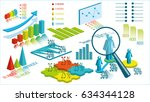 set with infographics. data and ... | Shutterstock .eps vector #634344128