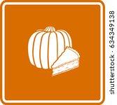 pumpkin pie slice sign | Shutterstock .eps vector #634349138