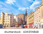 street view of edinburgh ... | Shutterstock . vector #634354868