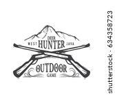 hunting club vintage logo and... | Shutterstock .eps vector #634358723