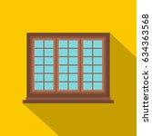 wooden brown tricuspid window