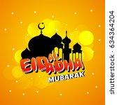 beautiful eid al adha card... | Shutterstock .eps vector #634364204