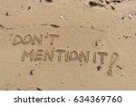 "handwriting  words ""don't... 