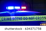 close up on siren on police car ... | Shutterstock . vector #634371758