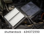 engine air filter | Shutterstock . vector #634372550