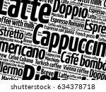 list of coffee drinks words...   Shutterstock .eps vector #634378718