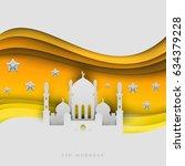 islamic beautiful design... | Shutterstock .eps vector #634379228