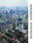 aerial view of bangkok modern... | Shutterstock . vector #634385630