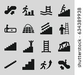 staircase icons set. set of 16...   Shutterstock .eps vector #634389938