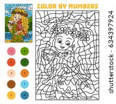color by number  education game ... | Shutterstock .eps vector #634397924