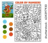 color by number  education game ... | Shutterstock .eps vector #634397930