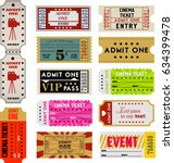 set of tickets for events | Shutterstock . vector #634399478