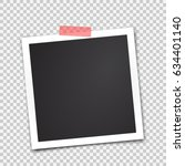 paper photo frame. sticky tape. ... | Shutterstock .eps vector #634401140