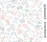 seamless pattern on the theme... | Shutterstock .eps vector #634404659