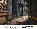 the empty alleyways of... | Shutterstock . vector #634407578