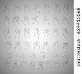 hands gesture set | Shutterstock .eps vector #634410068