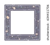square frame with floral...   Shutterstock .eps vector #634411706