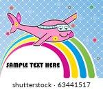 love plane background | Shutterstock .eps vector #63441517