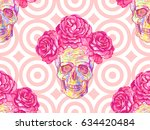 seamless mexican pattern with... | Shutterstock .eps vector #634420484