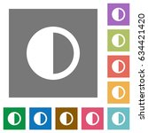contrast control flat icons on... | Shutterstock .eps vector #634421420