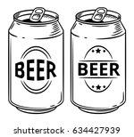 vector illustration beer can... | Shutterstock .eps vector #634427939