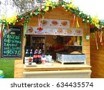 easter stalls with fast food ... | Shutterstock . vector #634435574