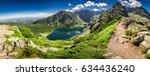 panorama of czarny staw...   Shutterstock . vector #634436240