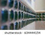 closeup of strip of decorative... | Shutterstock . vector #634444154