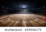 professional basketball court... | Shutterstock . vector #634446173