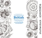 british cuisine top view... | Shutterstock .eps vector #634450856