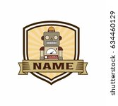 robot logo vector | Shutterstock .eps vector #634460129