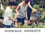 group of kindergarten kids... | Shutterstock . vector #634461074