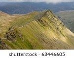 Striding Edge  Mountain Ridge...