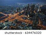 dubai cityscape panorama | Shutterstock . vector #634476320