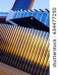 metallic modern architecture... | Shutterstock . vector #634477250